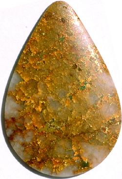 Or sur quartz