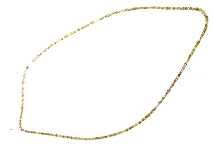 Collier de diamants multicolores