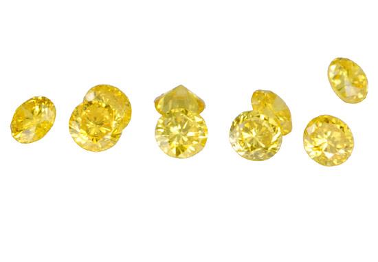 Diamant jaune 0.7mm