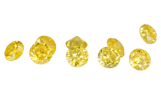 Diamant jaune 1.3mm