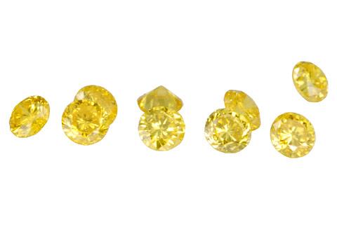 Diamant jaune 1.5mm