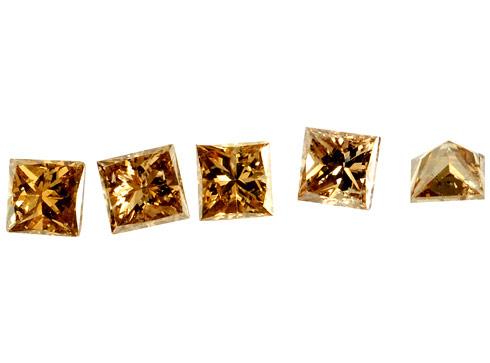 Diamant brun Cognac 2.1x2.1mm