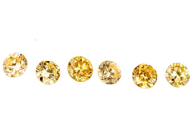 Diamant jaune-orange 2.1mm