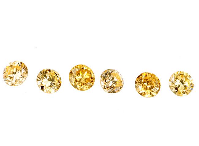 Diamant jaune-orange 2.2mm