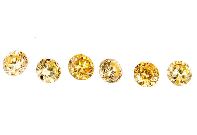 Diamant jaune-orange 2.5mm
