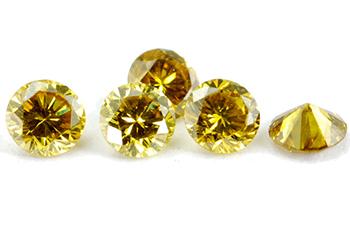 Diamant jaune-vert 1.5mm