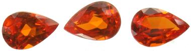 Grenat mandarin calibré 0.56ct
