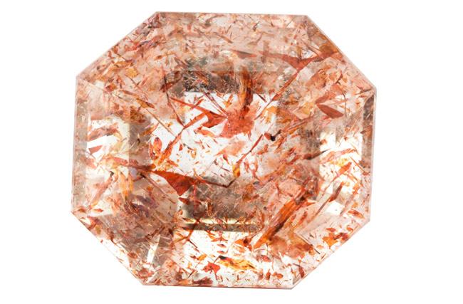 Quartz à Hematite - Lepidocrocite 8.56ct