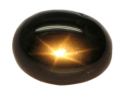 Saphir noir étoilé