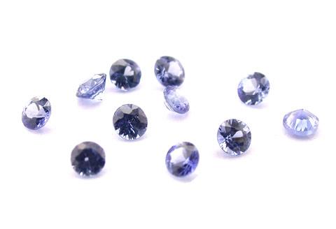 Saphir bleu rond (calibré) 0.01ct