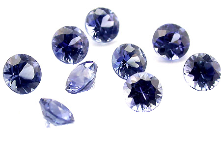 Saphir bleu rond (calibré) 0.07ct