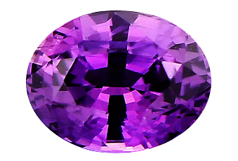Saphir violet non chauffé 1.78ct