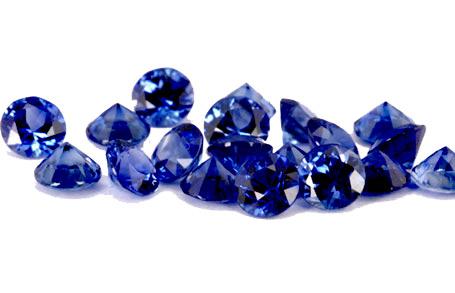 Saphir bleu rond (calibré) 1.0mm