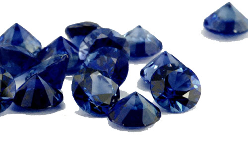 Saphir bleu rond (calibré) 1.1mm