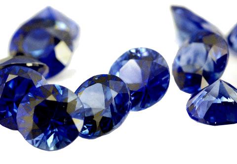 Saphir bleu rond (calibré) 1.6mm