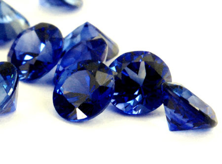 Saphir bleu rond (calibré) 2.1mm