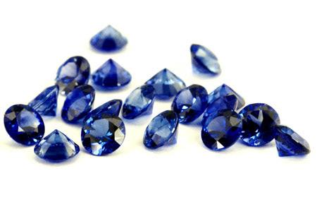 Saphir bleu rond (calibré) 2.3mm