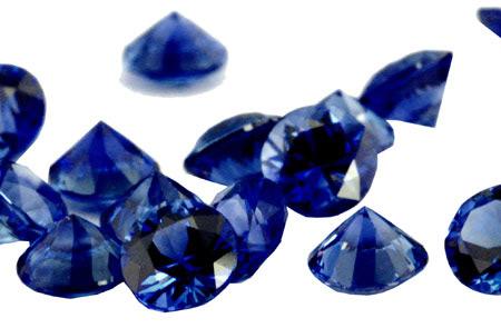 Saphir bleu rond (calibré) 2.4mm