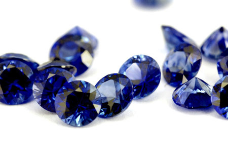 Saphir bleu rond (calibré) 2.5mm