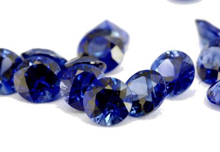 Saphir bleu rond (calibré) 2.6mm