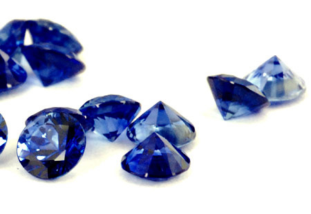 Saphir bleu rond (calibré) 2.7mm