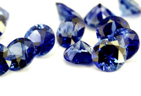 Saphir bleu rond (calibré) 3,5mm