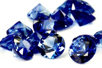Saphir bleu rond (calibré) 0.84ct