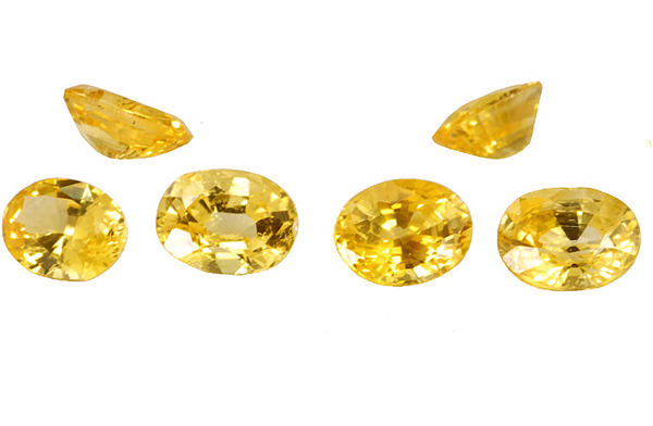 achat Saphir jaune oval 4x3mm