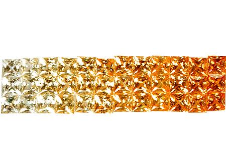 Saphir jaune-orange 2.5x2.5mm