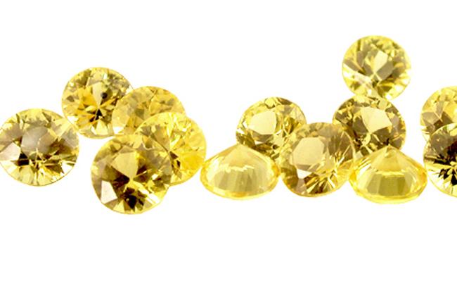 Saphir jaune (rond calibré) 1.5mm