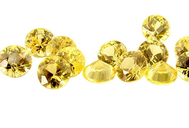 Saphir jaune (rond calibré) 3.7mm