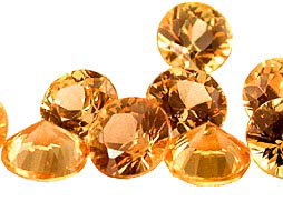 Saphir jaune-orange (rond - calibré) 0.83ct