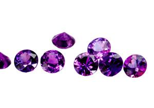 Saphir violet  (rond-calibré) 0.14ct