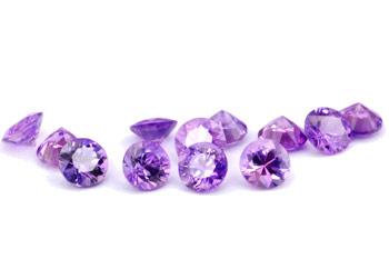 Saphir violet  (rond-calibré) 0.16ct