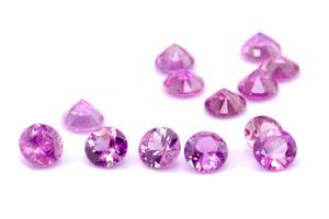 Saphir violet  (rond-calibré) 0.15ct