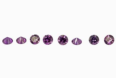 Saphir violet  (rond-calibré) 0.03ct