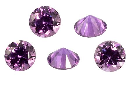 Saphir violet  (rond-calibré) 0.17ct