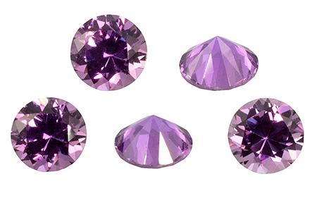 Saphir violet  (rond-calibré) 0.4ct
