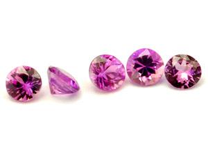 Saphir violet  (rond-calibré) 0.075ct