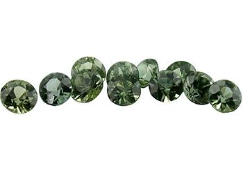 Saphir vert (rond - calibré) 0.04ct