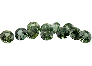 Saphir vert (rond - calibré) 0.1ct