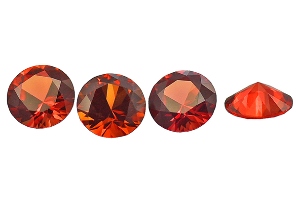 Saphir orange-rouge (rond calibré) 0.53ct