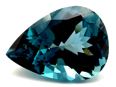Topaze bleue London Blue 35.38ct (traitée)