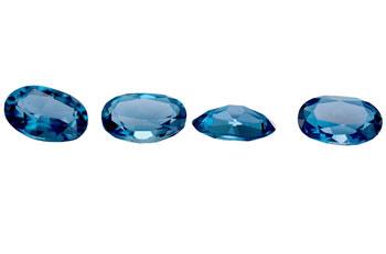 Topaze bleue London Blue calibrée 0.25ct (traitée)