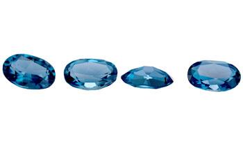 Topaze bleue London Blue calibrée 0.53ct (traitée)