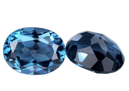 Topaze bleue London Blue 13x11mm (traitée)