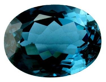 Topaze bleue London Blue OV 18x13mm (traitée)