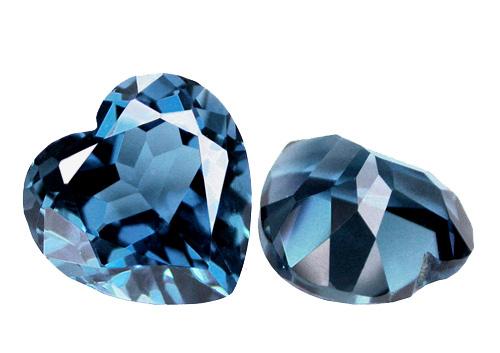 Topaze bleue London Blue calibrée 8.1ct (traitée)