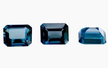 Topaze bleue London Blue calibrée 1.25ct  (traitée)