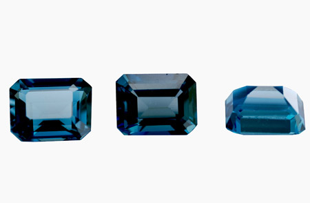 Topaze bleue London Blue calibrée 5.8ct (traitée)